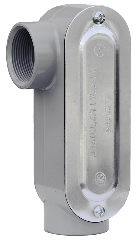 Dottie LR100CG 1 in. Threaded Conduit Body with Cover & Gasket