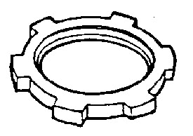 Dottie LNS300 3 in. Steel Sealing Lock Nuts