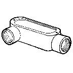 "1-1/2"" (LR) Threaded Conduit Bodies ( Malleable Iron )"