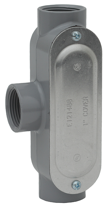 Dottie T125CG 1 1/4 in. Threaded Conduit Body with Cover & Gasket