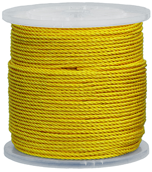 1/8 X 1000' Pull Rope - Polypropylene - Yellow