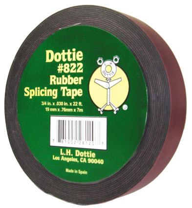 DOTTIE 822 3/4X22FT RUBBER TAPE