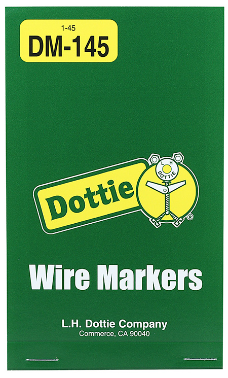 DOTTIE DM-145 1-45 WIRE MARKER BK