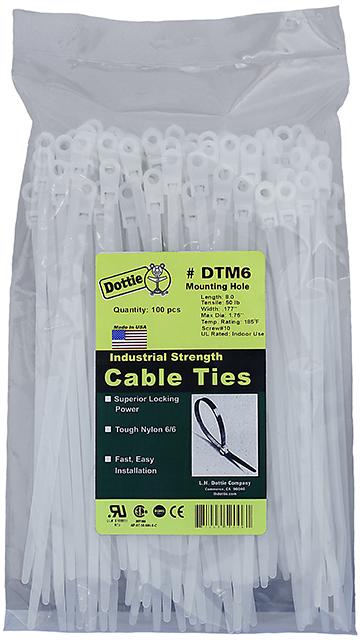 DOTTIE DTM-6 8-1/2 WHT CABLE TIE