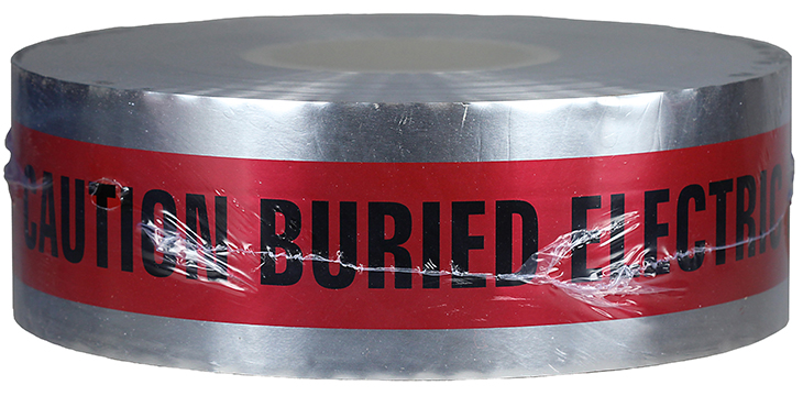 "DOTTIE DU-01 CAUTION TAPE RED ""BURIED ELECTRIC LINE BELOW"""