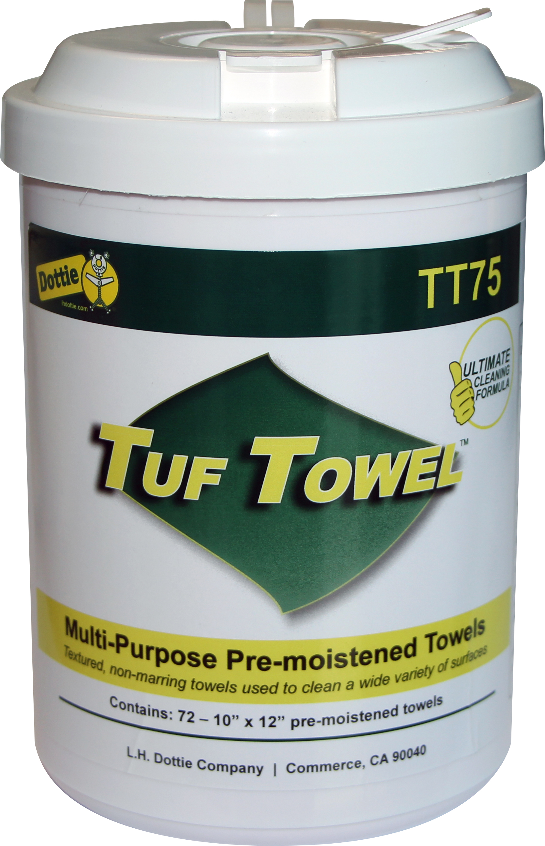 DOTTIE TT75 75 Count Tuf Towels,Pre-Moistened Multi-Purpose