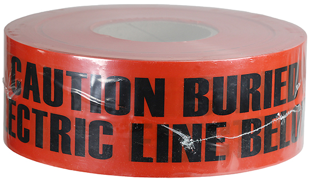 LegendELECTRIC LINE Red LegendELECTRIC LINE 3 x 1000/' TBNA0600 Thomas /& Betts NA-0600 Buried Utility Tape 3 x 1000