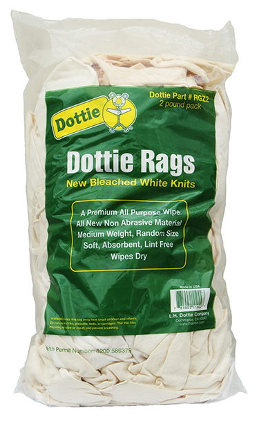 DOTTIE RGZ2 WHT ALL PURPOSE WIPEKNIT RAGS